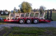 Thanking my brother, Bill, for transporting the benches from Lancaster to Seneca Lake.